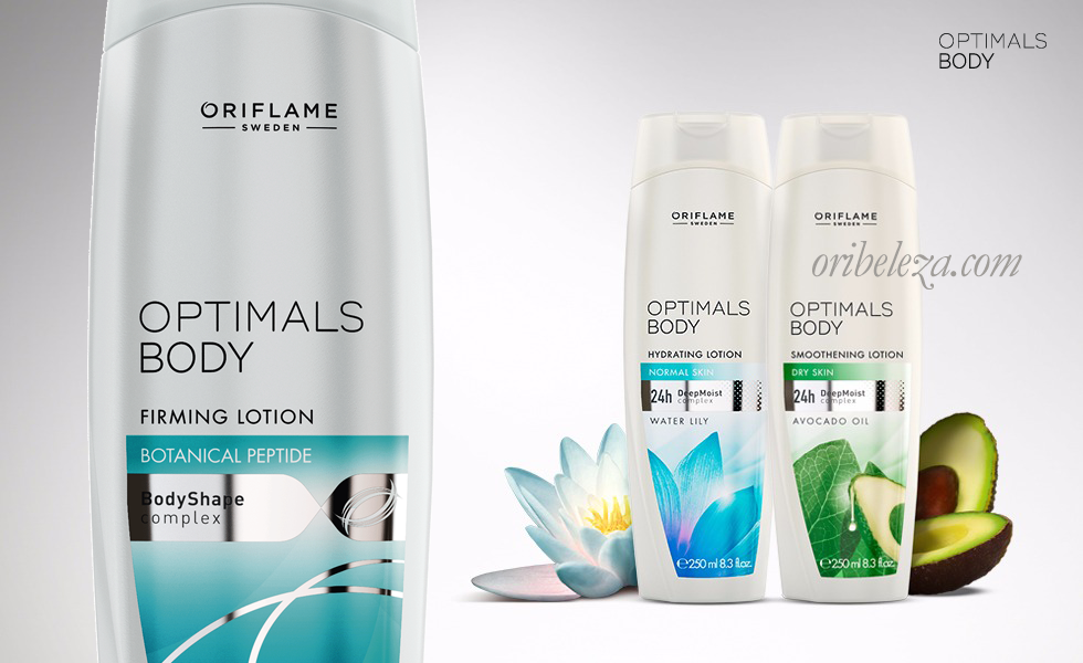 Optimals Body Oriflame: Cuidados do Corpo
