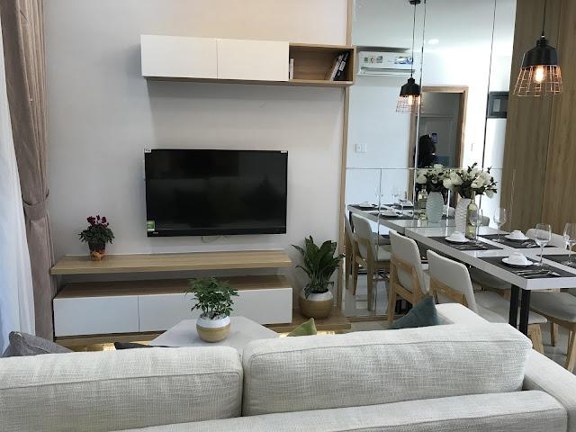 Phòng khách căn hộ Bcons Suối Tiên