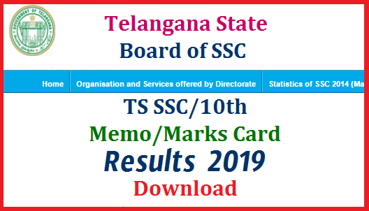 TS/Telangana 10th Class SSC March 2019 Results Download
