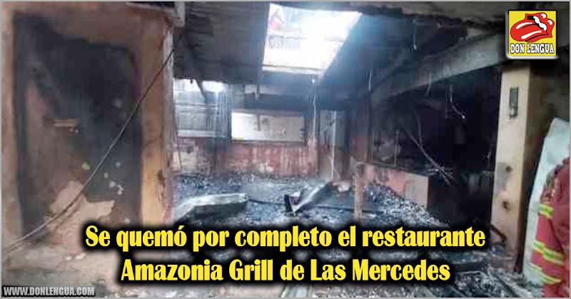 Se quemó por completo el restaurante Amazonia Grill de Las Mercedes