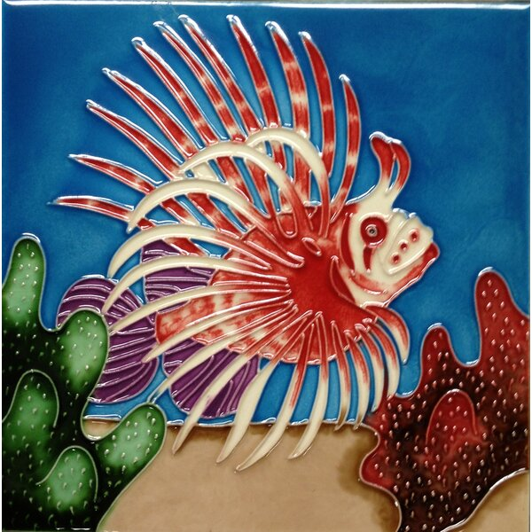 Lion Fish Tile Wall Decor