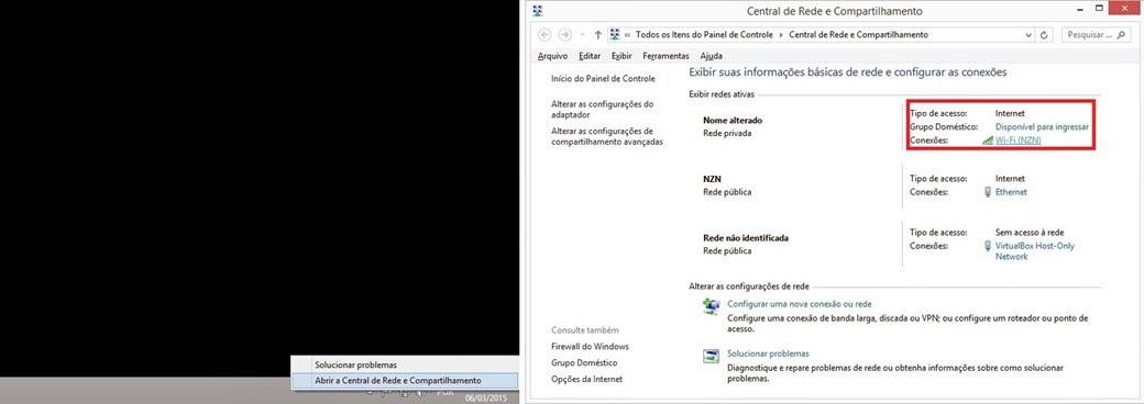 Detalhes Rede Sem Fio Windows 8.1