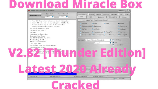 Download Miracle Box V2.82 [Thunder Edition] Latest 2020 Already Cracked