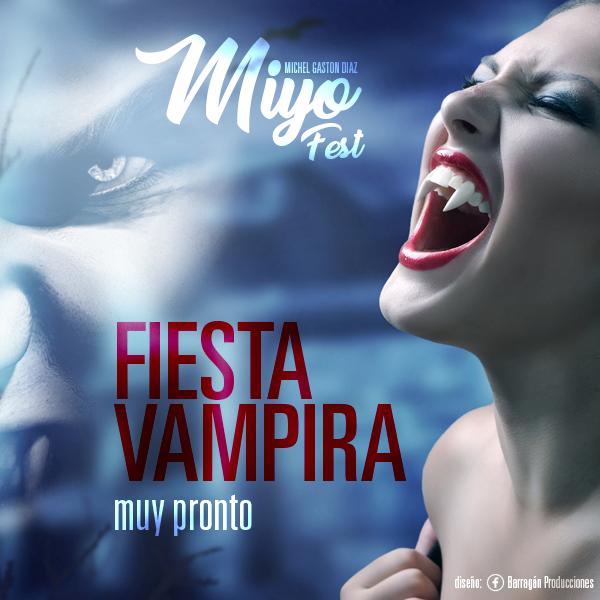 Flyer para Fiesta Vampira