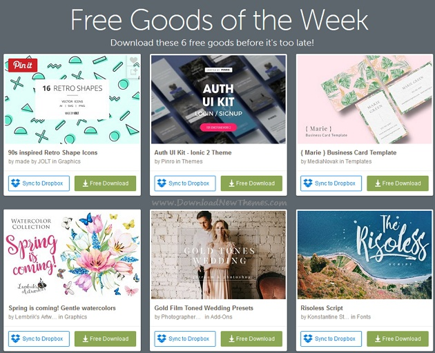 freebies of the week