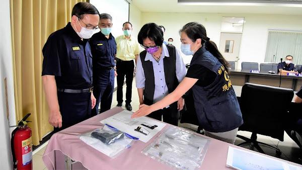 彰化警察霹靂小組一日內偵破槍擊案 王惠美嘉勉頒破案獎金