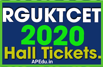 RGUKTCET 2020 Hall Tickets.