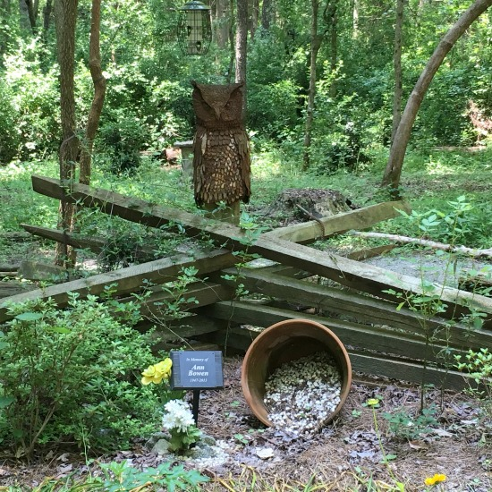 Peace garden at the Carolina Raptor Center