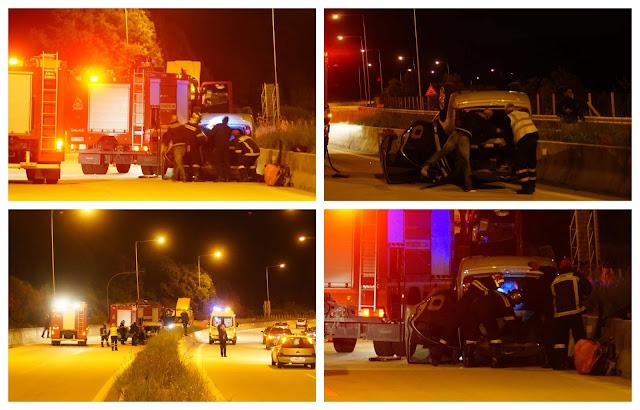 Τροχαίο ατύχημα πριν λίγο στην Εγνατία (ΦΩΤΟ + ΒΙΝΤΕΟ)