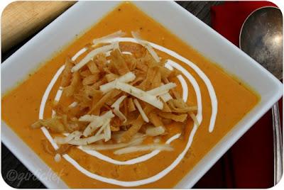 Creamy Tortilla Soup w/ Chicken & Corn