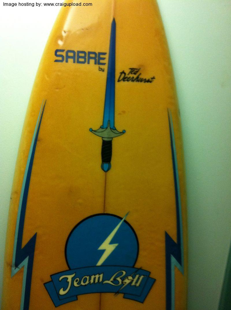 Vintage Surfboard Collector Uk Ted Deerhurst Team Bolt Sabre