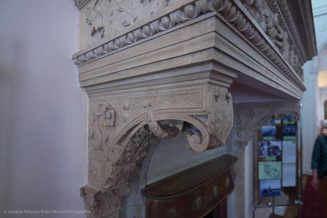Ливадийский дворец. Интерьеры. Обрамление камина