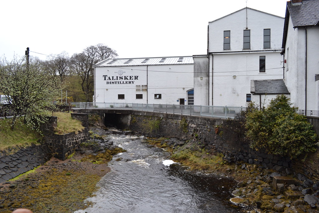 Завод Талискер на острове Скай в Шотландии