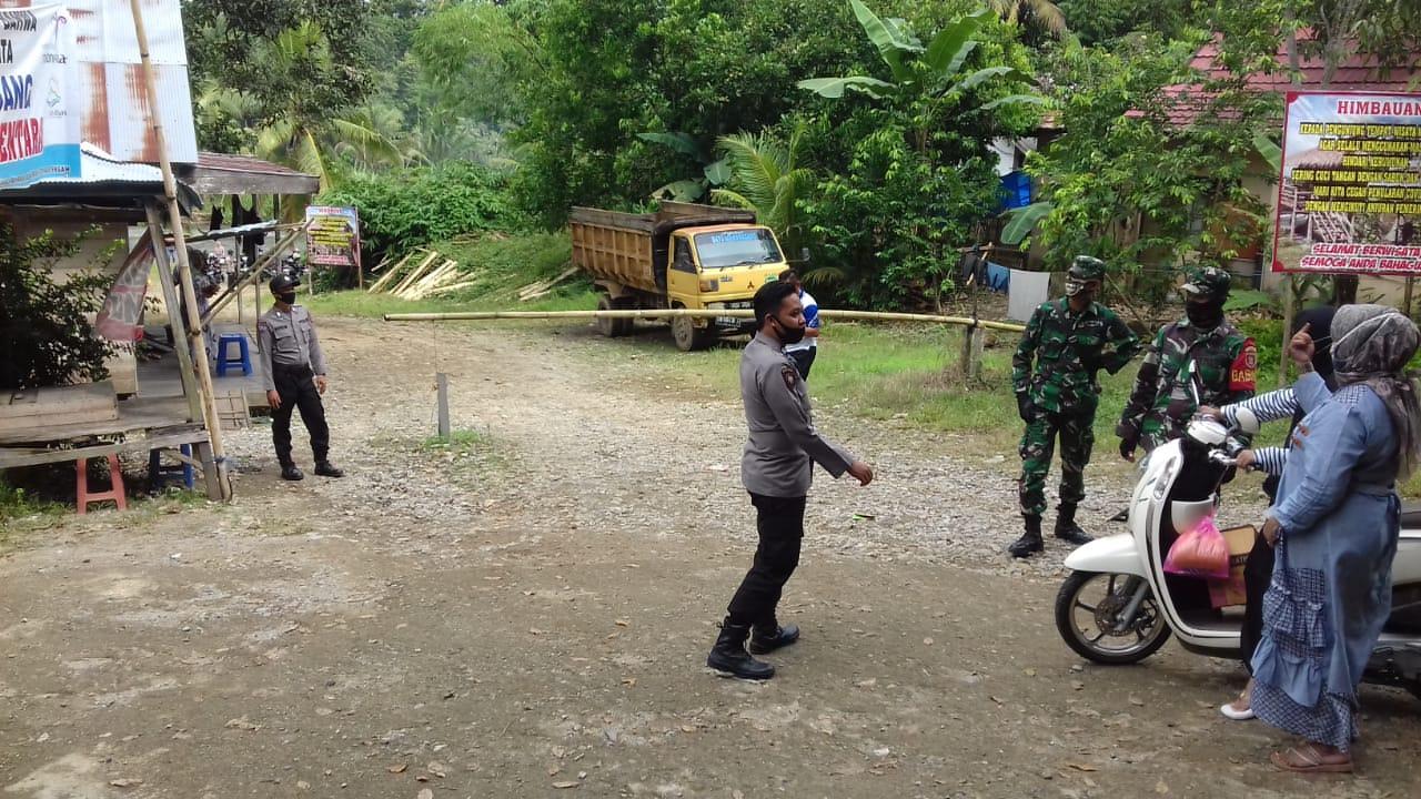 Aparat Gabungan TNI Polri dan Kecamatan Hantakan Lakukan Penertiban Tempat Wisata