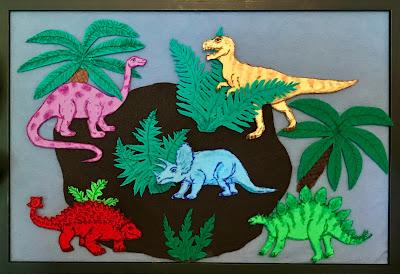 dinosaur storytime, dinosaur flannel