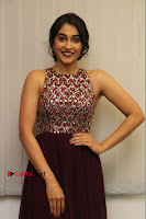 Actress Regina Candra Latest Stills in Maroon Long Dress at Saravanan Irukka Bayamaen Movie Success Meet .COM 0032.jpg