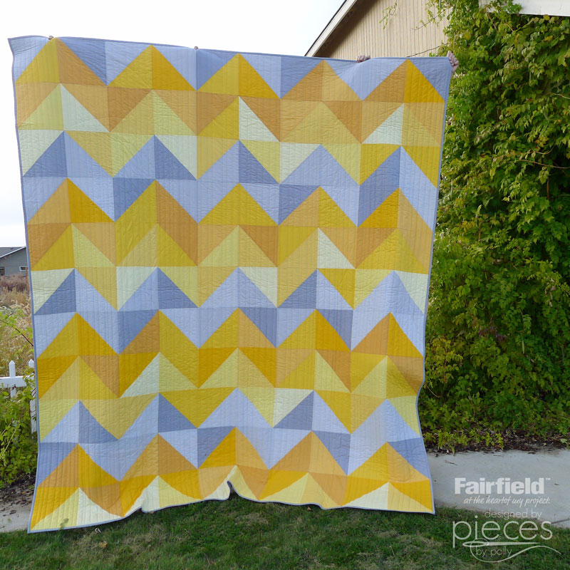 Pieces By Polly January Skies Quilt Free Half Square Triangle