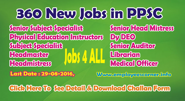 Latest Jobs in Pakistan Jobs in PPSC Jobs 2016