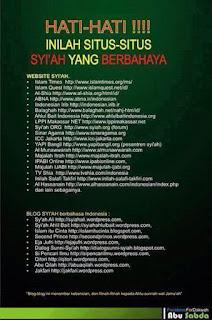 Beredar, Daftar Situs yang Diduga Syiah