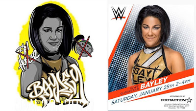 Houston Galleria Footaction Exclusive WWE Royal Rumble Bayley T-Shirt by Jesse Hernandez