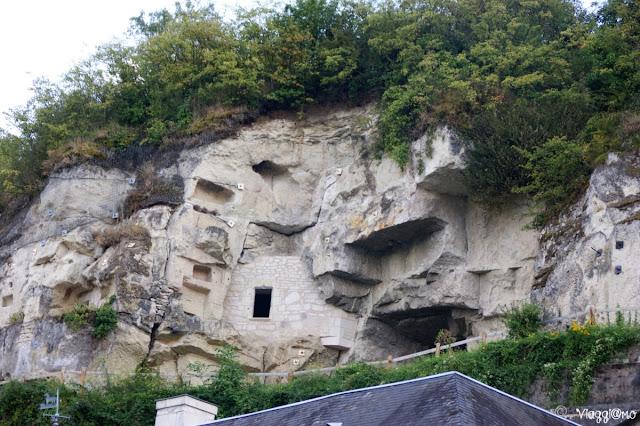 Le case troglodite tipiche della Loira e del villaggio di Montsoreau