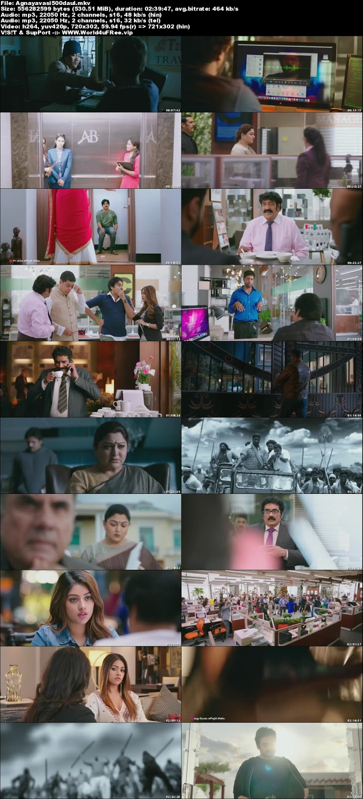 Agnyaathavaasi 2018 Dual Audio UNCUT HDRip 480p 500Mb x264 world4ufree.vip , South indian movie Agnyaathavaasi 2018 hindi dubbed world4ufree.vip 480p hdrip webrip dvdrip 400mb brrip bluray small size compressed free download or watch online at world4ufree.vip