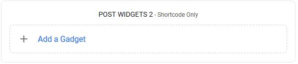 Post Widgets 2