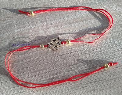 Adzik tworzy - bransoletka ze sznurka DIY z łącznikiem