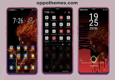 Dark Phoenix Theme For Oppo Smartphone Android
