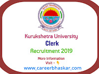 Kurukshetra University Clerk Recruitment 2019