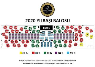 svalin hotel izmir yılbaşı programları 2020 rezervasyon