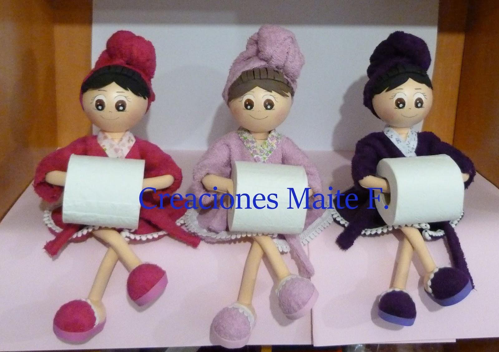Fofuchas manualidades y creaciones maite fofuchas porta for Colgador de toalla para bano
