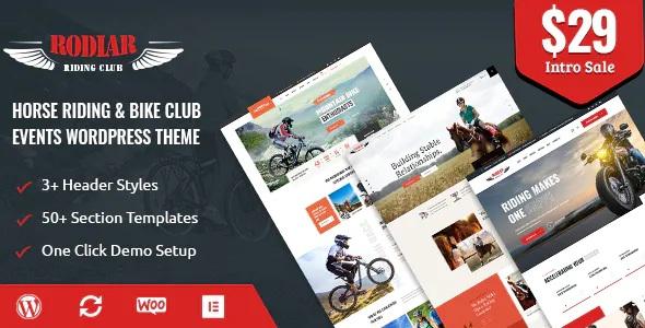 Best WordPress Theme for Rider's Club