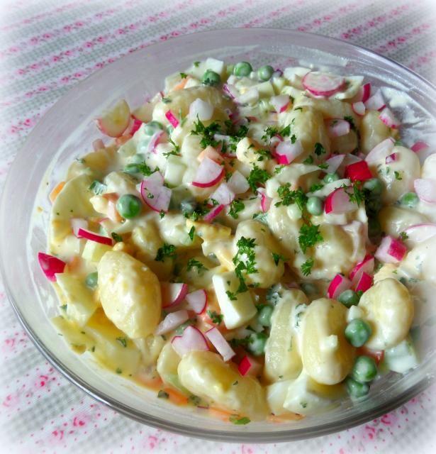 Creamy Potato Gnocci Salad