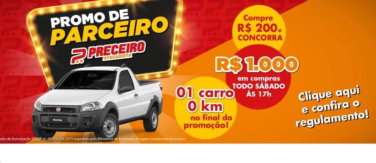 Promoção Preceiro Atacadista 2020 Carro 0KM e 15 Vales-Compras - Promo Parceiro