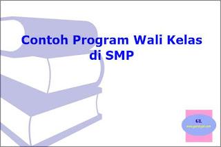 contoh program kerja wali kelas SMP