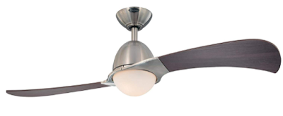 7216100 Solana 48-Inch Brushed Nickel Indoor Ceiling Fan, Light Kit with Opal Frosted Glass