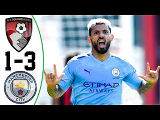 Bournemouth vs Man City 1-3 All Goals And Match Highlights [MP4 & HD VIDEO]