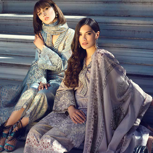 Tina Durrani Embroidered Lawn Collection By Al Zohaib Textile 2019