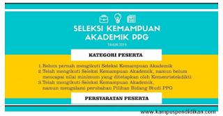 Pendaftaran PPG sudah dibuka, Inilah Tata Cara Pendaftaran seleksi akademik PPG 2019