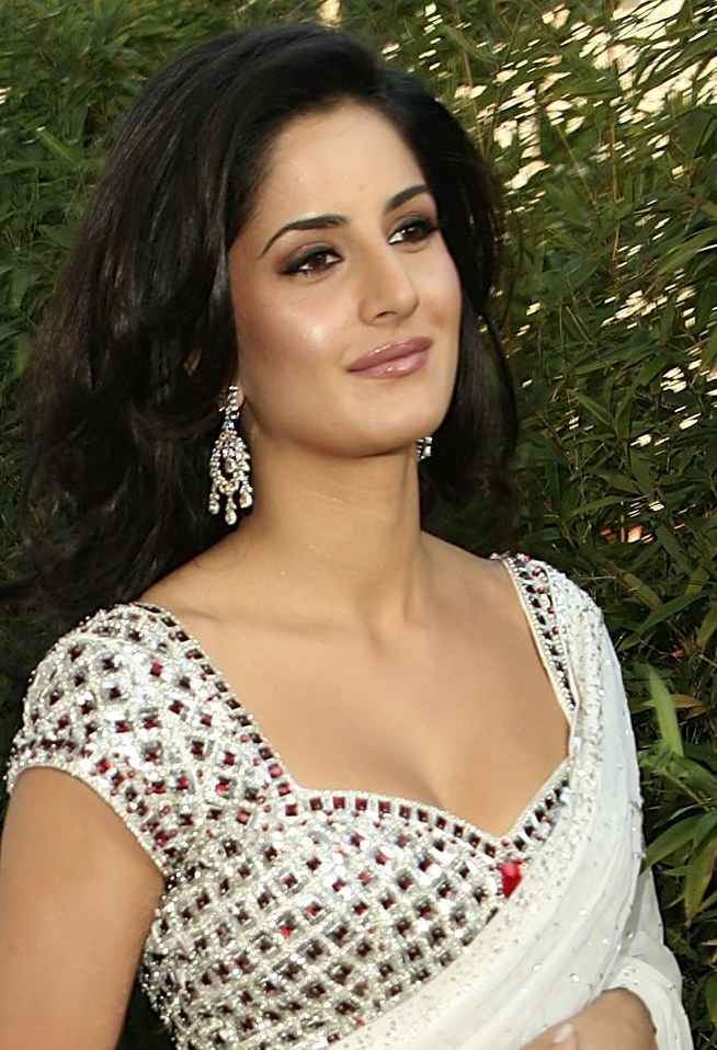 Glamorous Katrina Kaif Hot In White Saree