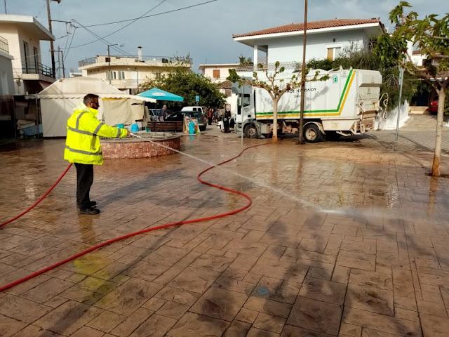 Παρεμβάσεις καθαρισμού στον Αγίου Αδριανό
