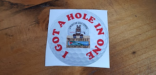 Hole in One sticker from New Forest Adventure Golf at Lymington Golf Centre