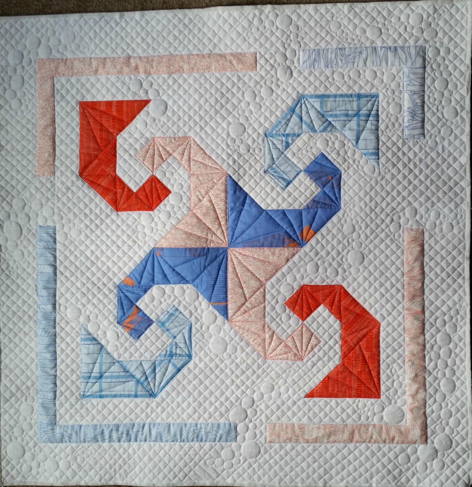 Elven Garden Quilts Snail Trail A Finished Quilt