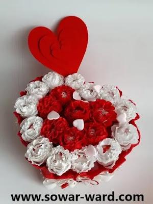 باقة ورد هدية قلب حب