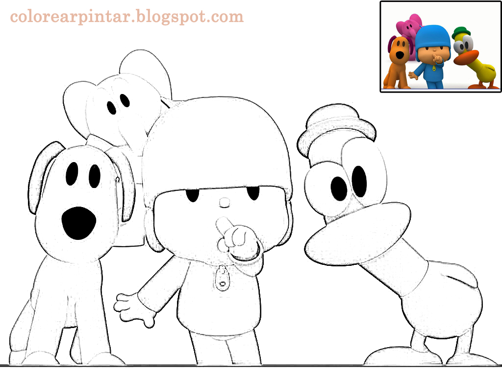 Dibujos - Fondos de escritorio - Imagenes: Dibujo Pocoyo para colorear