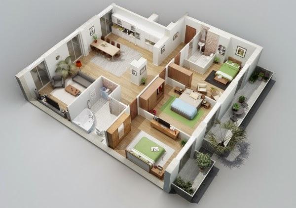 Merencanakan Denah Rumah 5 Kamar Tidur 1 Lantai ~ Ngopi Hideung