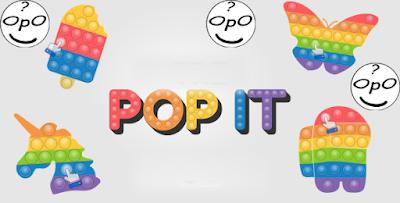 Foto pop it, pop it unicorn, pop it ranibow, pop it pelangi.