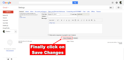 Gmail Save Changes