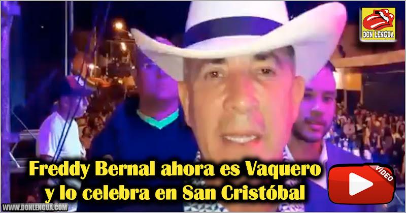 Freddy Bernal ahora es Vaquero y lo celebra en San Cristóbal
